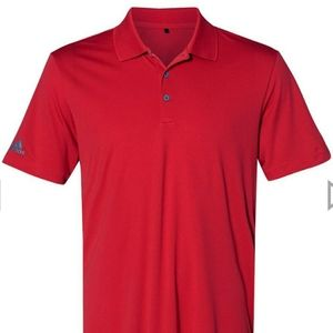 NWT Adidas Red Golf Shirt Polo